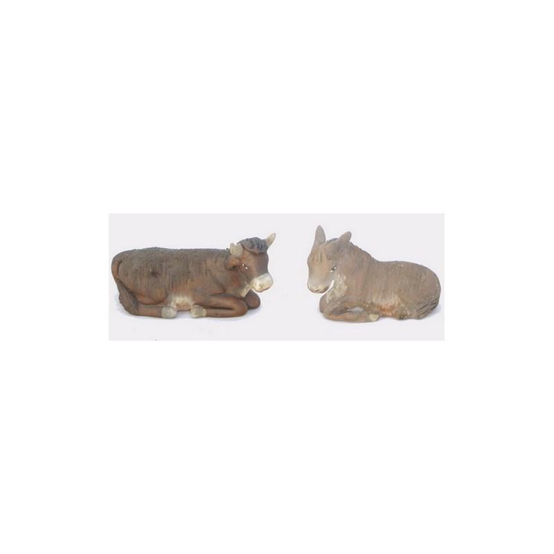 Mondo Presepi Copia Bue e Asino in terracotta Lux - 44989