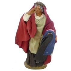 Donna con cesto di pane Lux cm 12 - 41232