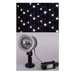 Christmas projector with external-internal moving stars