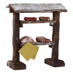 Banco espositivo di carne e salumi cm 9x5x10,5 h per statue da