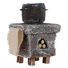 Forno a legna con pentola per cucina cm 5x5x8 h per statue di
