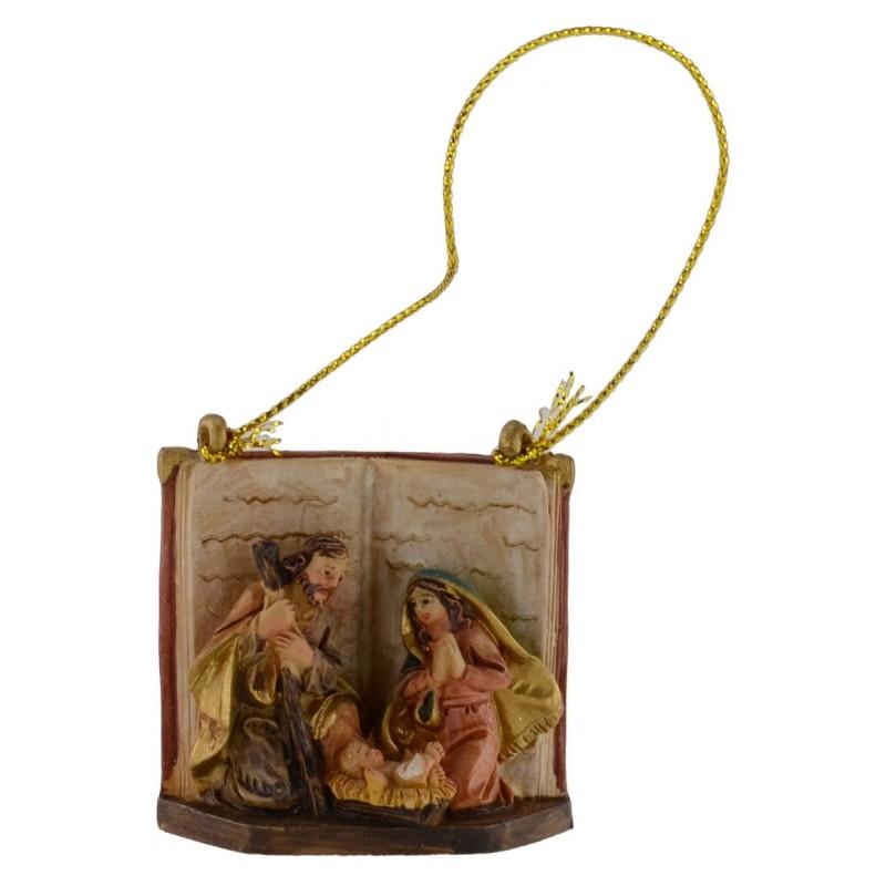 Nativity cm 3.5 to hang in resin