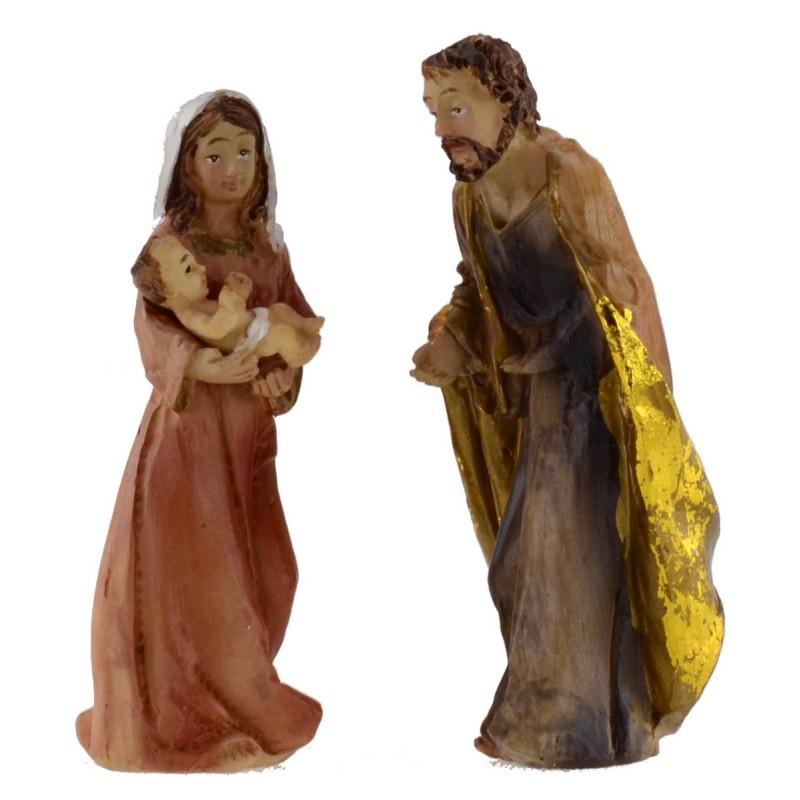 Nativity 3 subjects in resin 8 cm