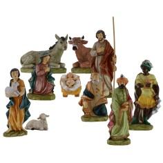 Natività in set da 10 statue 45 cm per esterno Mondo Presepi