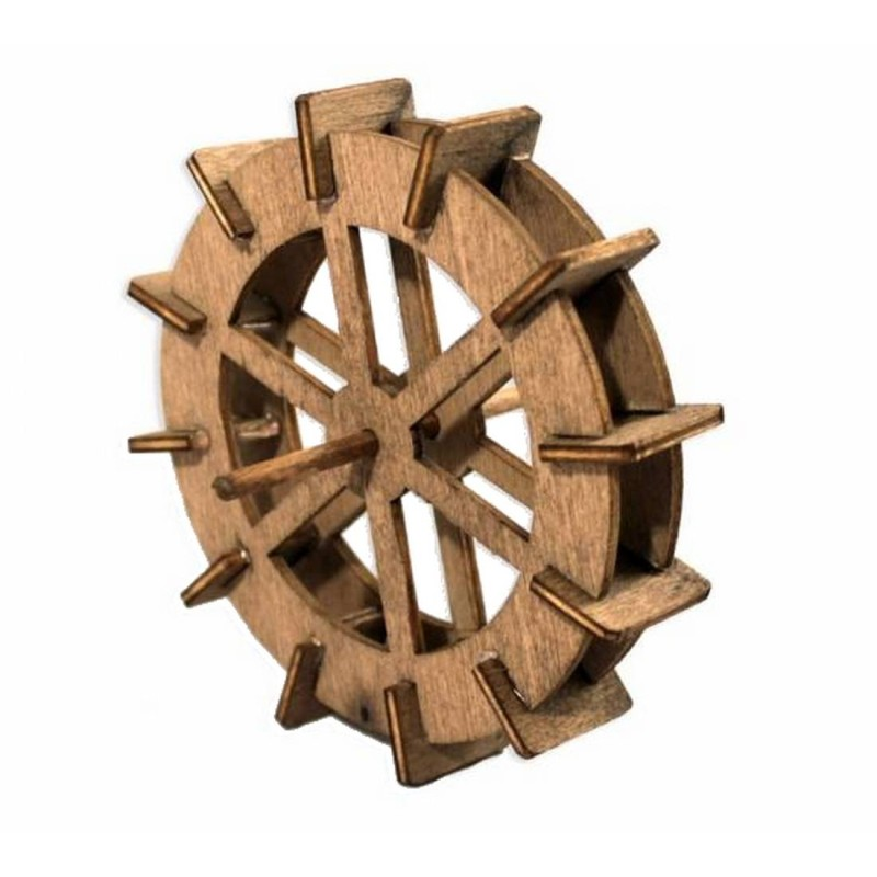 Rotate wooden water mill ø 10 cm for presepe made by you