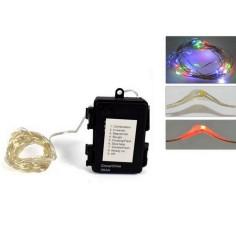30 micro led colorati a batterie con giochi per esterno e