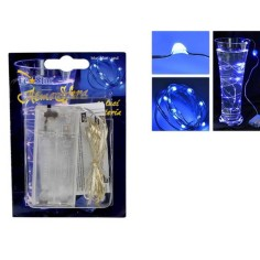 20 Micro Led blu a batterie Mondo Presepi