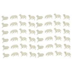Set 48 sheep cm 2-2, 5x1,4-1, 8 h.