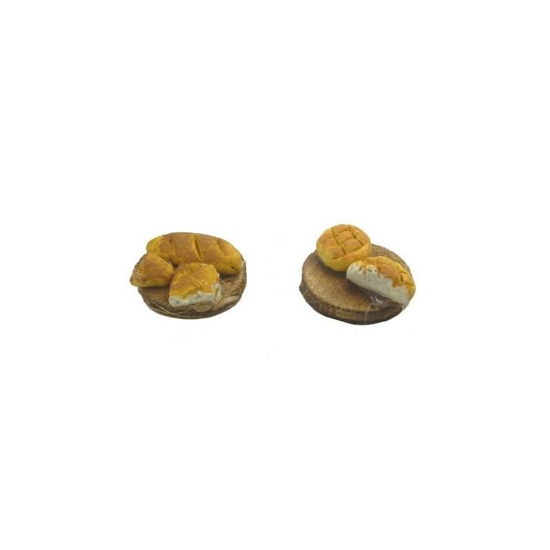 Set 2 taglieri con pane - D408 Mondo Presepi