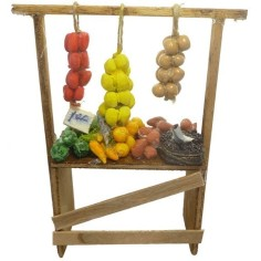 Mondo Presepi Banco frutta e verdura cm 10 - DX715
