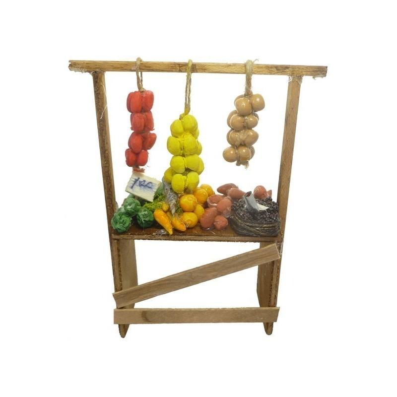 Banco frutta e verdura cm 10 - DX715 Mondo Presepi