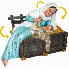 Madonna cm 30 with child -STM02B - Free shipping!