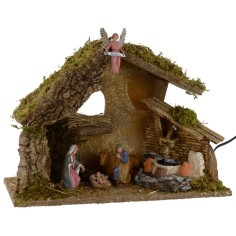 Huanna with Nativity Landi series 10 cm and fountain