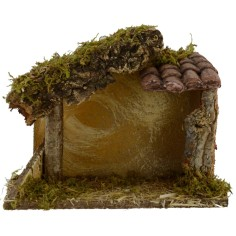 Capanna con coppi in terracotta cm 24x12,5x20 h per Natività da
