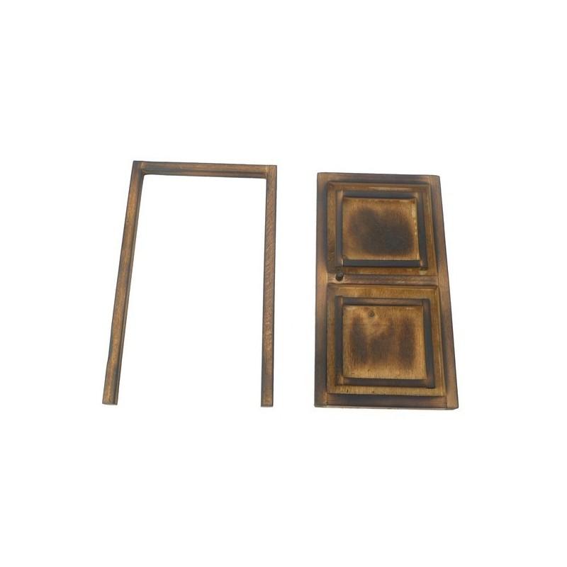 Porta in legno invecchiato cm 7,3x13x5 - T913