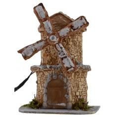 Mulino a vento in resina funzionante cm 12X8,5X15,3 h Mondo