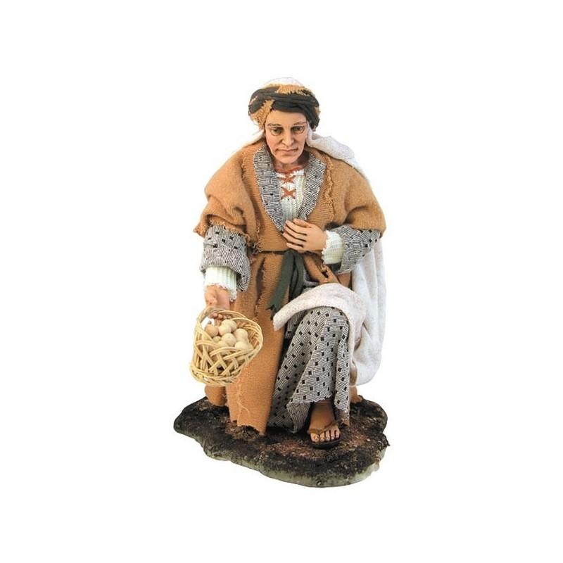 Kneeling woman with basket -STV30 / 28 - Free shipping