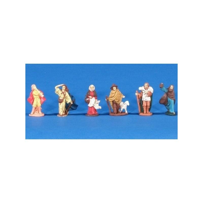 Mondo Presepi Pastori cm 4 set 6 pezzi - Cod. ZPS04