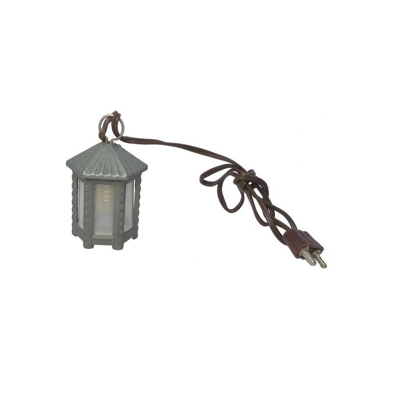Lanterna esagonale media in metallo luce B. - Cod. LM61B