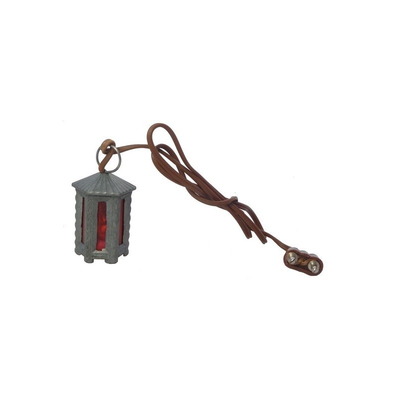 Lanterna esagonale piccola in metallo luce R. - Cod. LM42R