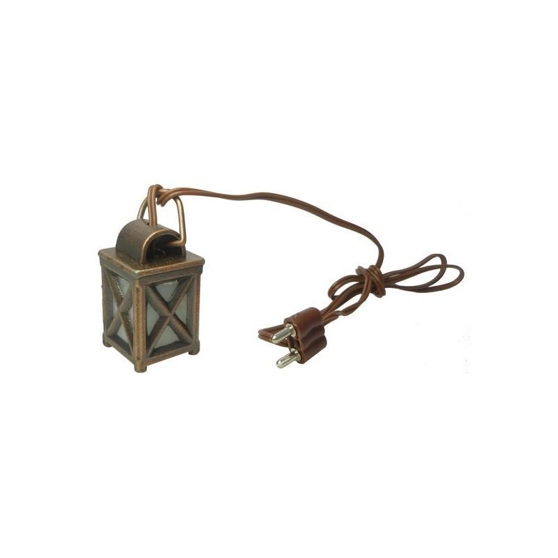 Lanterna lux in metallo con luce bianca - Cod. X48B