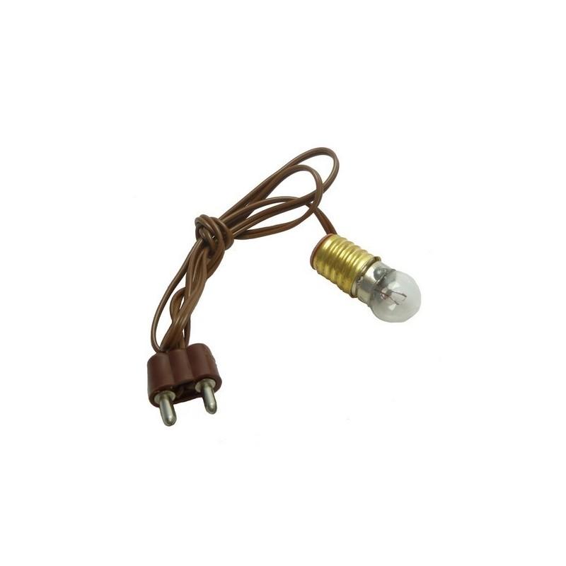 E10 lamp holder + plug + lamp. white Cod. LP42