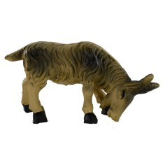 Brown goat with low head for statues 10-12 cm