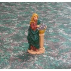 Mondo Presepi Donna con vaso di fiori cm 10 - Cod. SD01