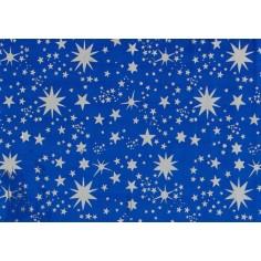 Carta cielo metallizzata con stelle argento cm 100x70 Mondo