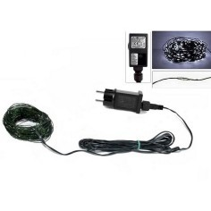 Chain 100 micro led cold white 220v.
