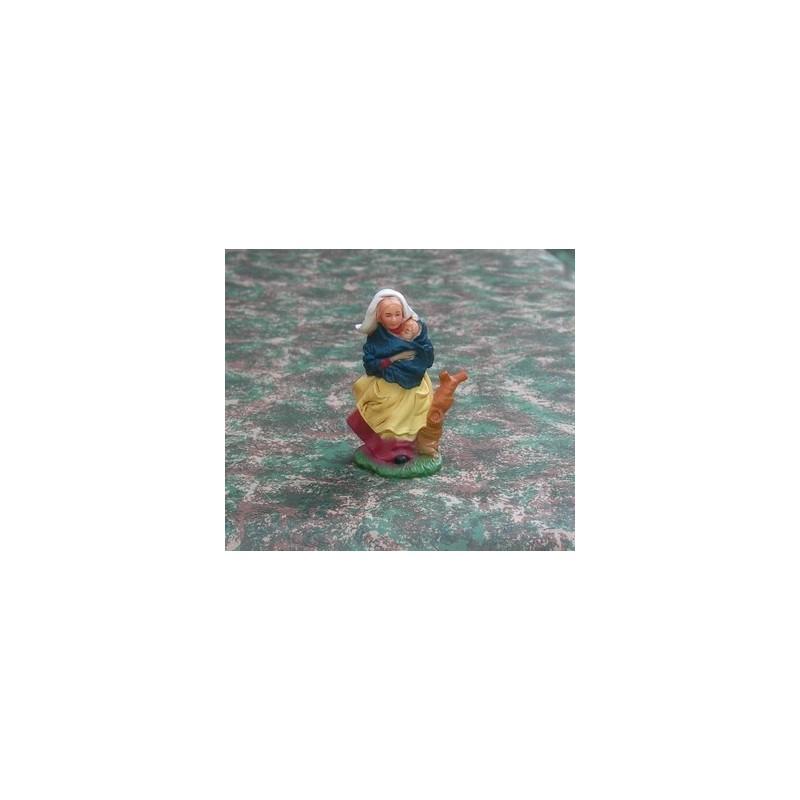 Mondo Presepi Donna con bambino tra le braccia cm 10 - Cod. SD05