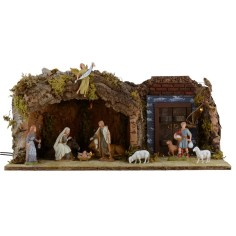 Grotto with illuminated door cm 12 49x25x20 h complete with
