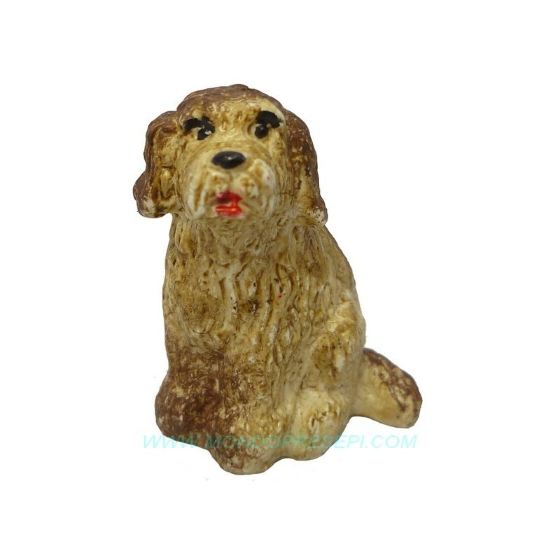 Seated dog for figures 8-10 cm