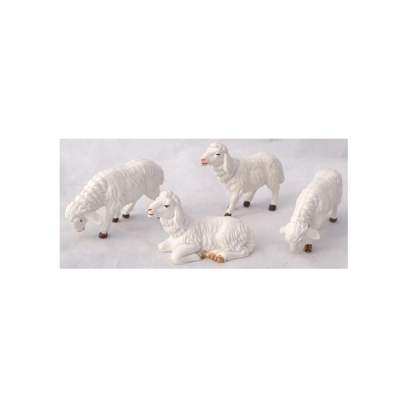 Set 4 pecore presepe - PG10 Mondo Presepi
