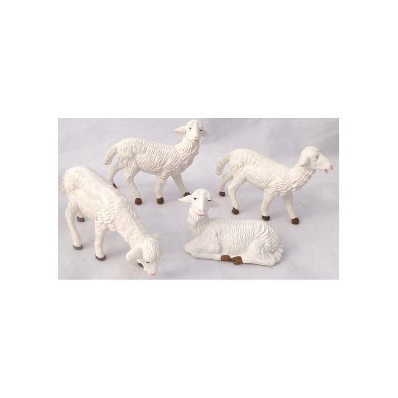 Mondo Presepi Set 4 pecore per statue cm 15 - PG15