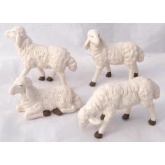 Mondo Presepi Set 4 pecore per pastori cm 20 -PG20