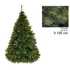 Albero di Natale pino paris 195 cm rami 1162 Mondo Presepi