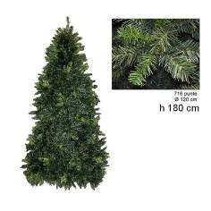Albero di Natale pino Luciano 180 cm rami 716 Mondo Presepi