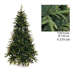 Christmas tree Ximas 210 cm branches in pe and pvc 1126