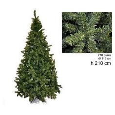 Albero di Natale pino imperatore 210 cm rami 750 Mondo Presepi