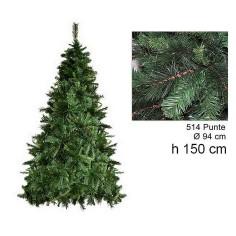 Albero di Natale pino germoglio 150 cm rami 514 Mondo Presepi