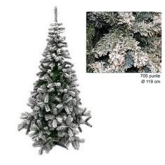 Albero di Natale innevato 210 cm rami 705 Mondo Presepi