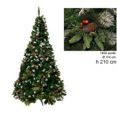 Albero di Natale Dalia 210 cm rami 1402 Mondo Presepi