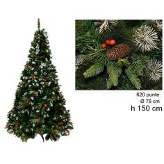 Albero di Natale Dalia 150 cm rami 620 Mondo Presepi