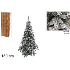 Albero di Natale con neve 180 cm rami 396 Mondo Presepi