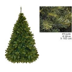 Albero di Natale pino paris 165 cm rami 674 Mondo Presepi
