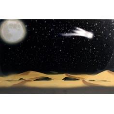 Cielo stellato fibre ottiche con luna e cometa ef. tremolante