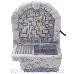 Mondo Presepi Fontana funzionante con lavatoio - FC82