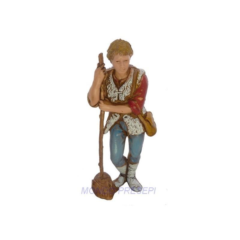 Mondo Presepi Pastore con bastone cm 8 Landi -0816-5