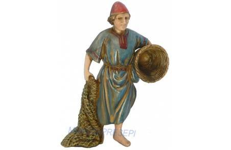Fisherman with net 10 cm cost. historians